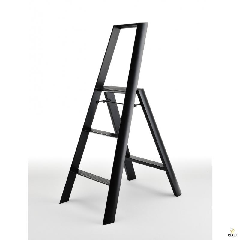 Дизайн лестница Hasegawa 3 ступени чёрная