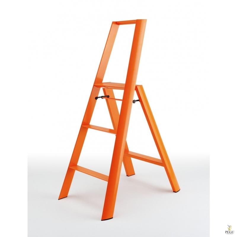 Дизайн лестница Hasegawa 3 ступени оранжевая