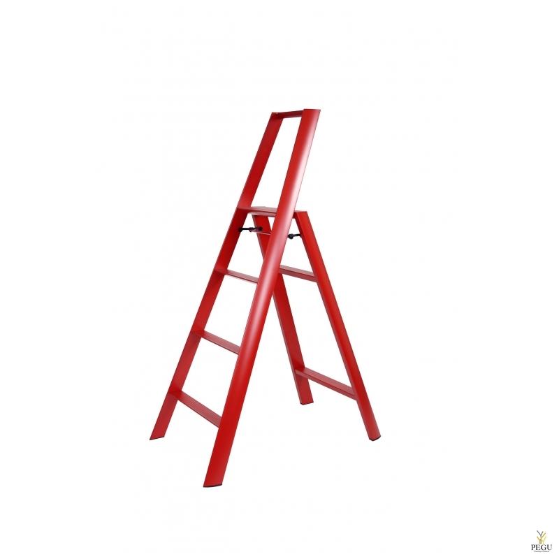 Neljaastmeline trepp Hasegawa punane