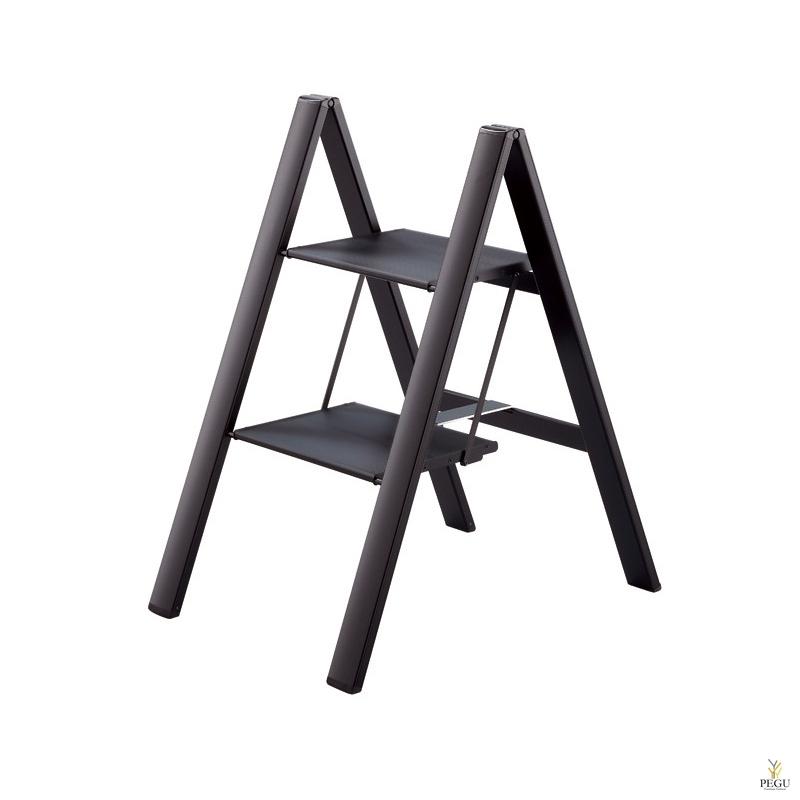 Slim Step лестница -2 ступеньки. Чёрная