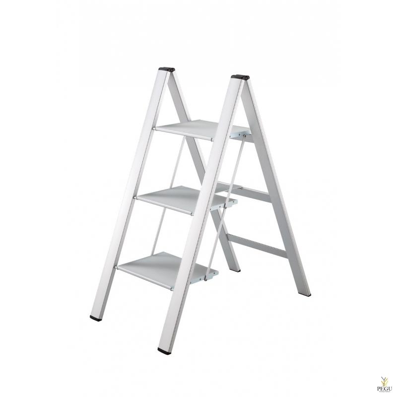 Slim Step лестница -3 ступеньки. серебристая