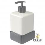 Haceka Aline дозатор для мыла с держателем металл серый