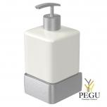 Haceka Aline дозатор для мыла с держателем металл матовый