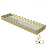 Haceka Aline klaasriiul metall/klaas , kuldne