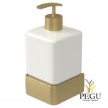 Haceka Aline дозатор для мыла с держателем металл золото