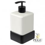 Haceka Aline дозатор для мыла с держателем металл , чёрный
