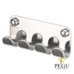 Ixi 4-ной крючек,  полированая Н/Р сталь