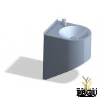 Питьевой фонтан AFO04 настенный механический Н/Р сталь AISI304