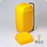 Комплект детских сидений (36 шт)+тележка на колёсах, желтые