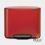 Pedaaliga sorteeriise prügikast, soft-close Brabantia BO, 3x11L passion Red