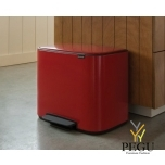 Pedaaliga prügikast, soft-close Brabantia BO, 36L passion Red