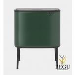 Touch bin ведро для сортировки мусора, soft-close Brabantia BO, 3x11L Pine Green