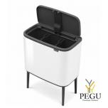 Touch bin сортироваочное мусорное ведро, soft-close Brabantia BO, 3x11L белая