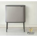 Touch bin ведро для сортировки мусора, soft-close Brabantia BO, 3x11L Platinum