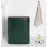 Touch bin prügikast, soft-close Brabantia BO, 2x30L Pine Green