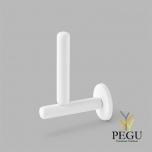 D Line Pebble WC держатель для запасной туалетной бумаги матовый белый