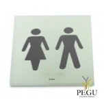 "Piktogramm ""MAN/WOMEN"", liimitav akrüül 86x86"