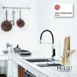 Damixa Slate mini-profi кухонный смеситель X-Change хром