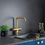 Damixa бесконтактный кухонный смеситель Silhouet Touchless матовая латунь