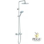 Новинка! Damixa душевой комплект Bell, термостат+верхний душ+ручной душ