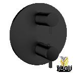 Damixa süvistatud katteplaat termostaadile D5703100 2 väljandit matt must