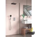 Süvistatud dušisüsteem termostaadiga Damixa SLATE HS1 Kroom/must