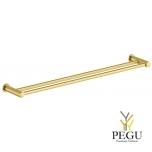 Damixa Silhouet двойное крепление для полотенца 800 mm матовое золото PVD