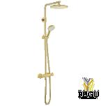 UUS! Damixa dušikomplekt Silhouet, termostaat+üladuš+käsiduš Kuld (PVD)