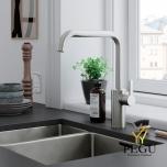 Damixa Silhouet кухонный смеситель с вентилем для стиральной машины матовая сталь PVD