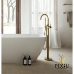 Damixa Silhouet Freestanding свободностоящий смеситель для ванной матовое золото PVD