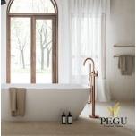 Damixa Silhouet Freestanding свободностоящий смеситель для ванной матовая медь PVD