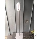 Desintifikaanti dosaator Elegance 1.1L (pattarei), valge plastik koos pulb.värvitud jalaga