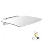 Delabie Be-line lift-up съёмное душевое сидение алюминий матовый белый