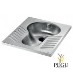 Delabie põranda sisene sifooniga WC SHA XS squart antivandaalne R/V teras AISI304