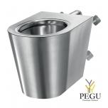 Delabie антивандальный унитаз WC настенный S21 P TC Н/Р сталь