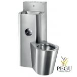Delabie KOMPACT WC с бачком + раковина слева напольный антивандальный Н/Р сталь AISI304