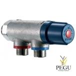 """Delabie PREMIX COMPACT термостатический вентиль никель M1/2"""" 30 - 60°C"""
