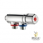 """Delabie PREMIX COMPACT termostadi ventiil kroom M1/2"""" 30 - 60°C"""