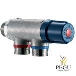 """Delabie PREMIX COMPACT termostadi ventiil nickel M3/4"""" 30 - 60°C"""