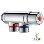"""Delabie PREMIX COMPACT termostadi ventiil kroom M3/4"""" 30 - 60°C"""
