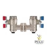 """Delabie угловые вентиля с 2 фильтрами для термостата PREMIX 3/4"""""""