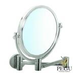 Косметическое зеркало настенное, 1X/5X увеличение, хром