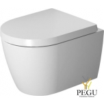 ME by Starck WC Rimless® komplekt Duravit valge,  Compact WC pott 253009 ja iste 002019