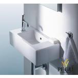 Duravit мебельная раковина VERO 070350 500x250mm белая 1 отверстие под смеситель слева