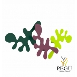 Camouflage-komplekt, mantle konks, L400xH240xP67mm, green-plum-lime