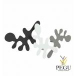Camouflage-комплект, крючки под польто, L400xH240xP67mm, black-white-grey