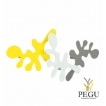 Camouflage-komplekt, mantle konks, L400xH240xP67mm, yellow-grey-white