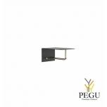 Garderoobiriiul UNU, nagid+riidepuu, 200mm, must-kuld