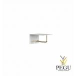 Garderoobiriiul UNU, nagid+riidepuu, 200mm, valge-kuld
