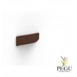 Мебельная ручка FROST Barcelona 128,  коричневая кожа